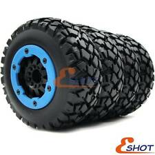 4pcs RC 1/10 Short Course Buggy Off Road Tires & Hex 12mm Beadlock Wheels Rims