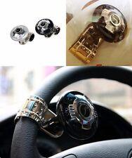 Black x 1, Power Handle Steering Wheel Knob Fine Safe Easy Turner Metallic