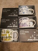 Disney Parks Star Wars Starbucks Been There Mugs Set of 3 Hoth/Bespin/Dagobah