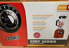 NEW DASH CHEF DIGITAL BLENDER RED 1400W, 2.2 HORSE POWER COMMERCIAL PERFORMANCE