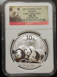2013 CHINA PANDA ~ NGC MS70 ~ EARLY RELEASES ~ FREE SHIPPING (S1)