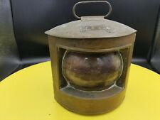 Jolie ancienne lanterne de port, laiton ou cuivre