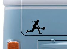 TENNIS MAN #2 VINYL DECAL wimbledon Tennis logo sticker camper VW van badge