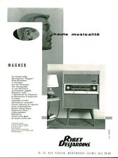 Publicité ancienne ribet Desjardins console radio WAGNER 1959