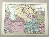 1891 Antik Map Of Persien Central Asien Balochistan Alte 19th Century Original