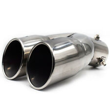 Chrome Stainless Steel Car Rear Dual Exhaust Pipe Tail Muffler Tip Wonderful
