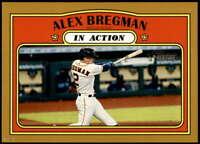 Alex Bregman 2021 Topps Heritage 5x7 Gold #164 /10 Astros In Action