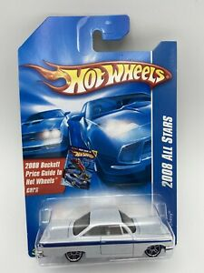 Hot Wheels 2008 All Stars 1962 Chevy White and Blue 1/64 Scale FREE SHIPPING
