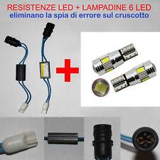 LUCI TARGA NUOVA FIAT TIPO KIT RESISTENZE + LAMPADINE 6 LED T10 - W5W NO ERRORE