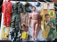 VINTAGE 1970 HASBRO GI JOE MAN OF ACTION  LIFE LIKE HAIR FIGURE CLOTHES ETC. BOX