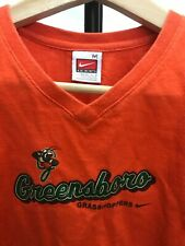 Orange Majestic Greensboro Grasshoppers MLB Baseball Jersey Shirt   WOmens Sz M