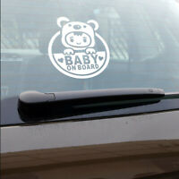 BABY ON BOARD For Auto Car/Window Vinyl Decal Sticker Decals Decor White JT