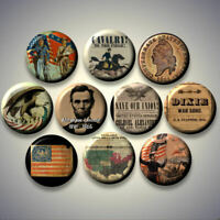 Civil War American Revolution United States Pinback buttons pins Set of 10