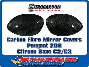 CARBON FIBRE MIRROR COVER (PAIR) PEUGEOT 206 CITROEN SAXO C2/C3