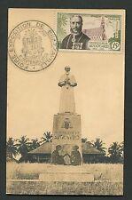 AEF Brazzaville MK 1953 monsignore Augouard carte MAXIMUM CARD MC cm d2268