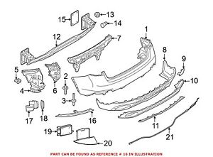 For BMW Genuine Reflector Panel Rear Right 63147317254