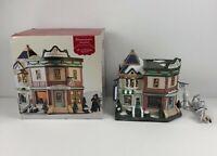 "St Nicholas Square Christmas Village ""BOUTIQUE & JEWELERS"" Lights & Original Box"