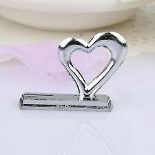 Wedding Party Place Name Number Card Clip Holder 3D Love Heart Table Stand Decor