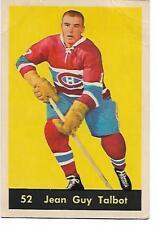 1960-61 - PARKHURST HOCKEY CARD - NO. 52 -  JEAN-GUY TALBOT -  CANADIENS