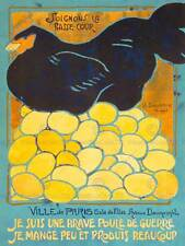 Soignons basse COUR coraggioso POULE GUERRE francese French NEW art print poster cc3962
