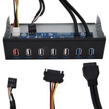 7-port 5.25in Optical Drive Media Dashboard Front Panel USB 3.0 For Desktop HPT