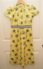 JANIE AND JACK 6 Yellow Floral Jumpsuit Romper Mandarin Ruffle Collar