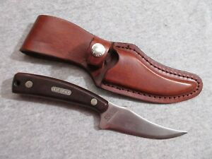 Schrade Old Timer 152 USA fixed blade knife with leather sheath G