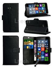 Apple iPhone 7 (4.7 inch) - Carbon Fibre Style Wallet PU Leather Case & Mini Pen