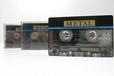 3x Sony ES IV Metal 64 - Cassette Tapes Vintage Prerecorded Sold As Blank Japan