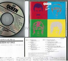 QUEEN Hot Space JAPAN CD CP32-5382 1A2 TO w/PS+INSERT No OBI 1987 issue Free S&H