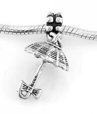STERLING SILVER DANGLE UMBRELLA WITH BOW EUROPEAN BEAD