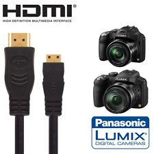 Panasonic Dmc-fz200, Fz72 & Fz62 Cámara Hdmi Mini Monitor TV del cable 2.5 m