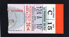 1972 Rolling Stones Concert Ticket Stub Madison Square Garden Exile on Main 7/24