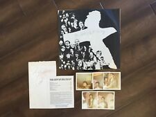 SIGNED Bill Cosby record with 5 vintage photos