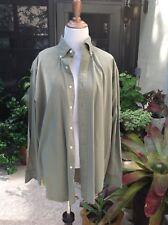 RALPH LAUREN BLAKE DRESS Olive Green SHIRT SIZE M D15117