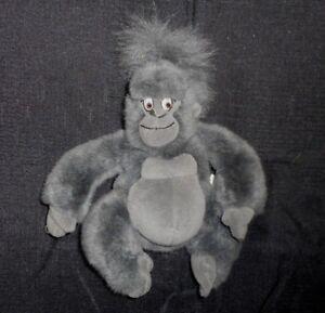 "9"" DISNEY TARZAN YOUNG TERK GORILLA STUFFED ANIMAL PLUSH TOY MINI BEAN BAG DOLL"