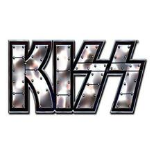 More details for official licensed - kiss - stud logo mini metal pin badge stanley simmons rock