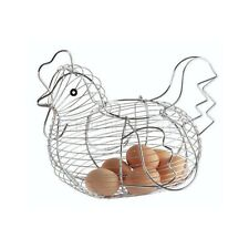 KitchenCraft Chrome-Plated Wire Chicken-Shaped Egg Basket