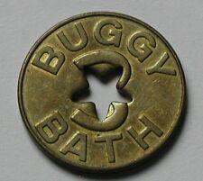 BUGGY BATH Brass Car Wash Token - good for one dollar in trade (Bozeman Montana)