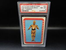 PSA 8 vintage STAR WARS trading card #37 Topps sticker 1977 droid C-3PO robot !!