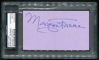 MARGARET TRUMAN SIGNED INDEX CARD DAUGHTER OF HARRY & BESS SINGER WRITER PSA/DNA