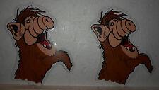 2 Stück Aufkleber Sticker ALF Kult Serie 80er Jahre