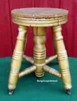 Antique Piano Organ Stool Chair Frame ~ Garden Porch Plant Stand Rustic Decor