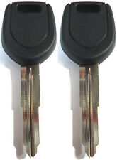 2 NEW For 2003-2006 Mitsubishi Lancer EVO Transponder Chipped Master Key Blank