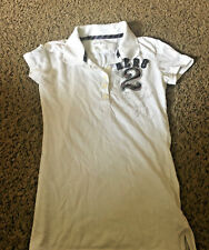 LADIES AEROPOSTALE SHORT SLEEVE 5 BUTTON TOP SHIRT SIZE S SMALL