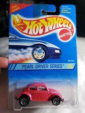 1995 HOT WHEELS VW Volkswagen Beetle Bug #293 Pearl Driver Series Pink NIP