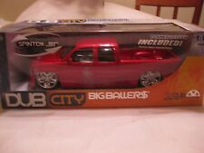Big Ballers Dub Chevrolet Siverado In A Red 118 Scale Diecast By Jada 2003 dc323