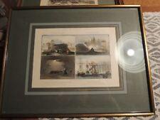 Die größten Steinkohlenwerke Englands- 4 Ansichten auf einem Blatt.handkolo 1850