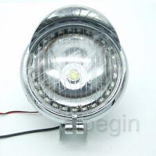 Motorcycle  Headlight LED Angel Eye White Amber For Honda Yamaha Suzuki Kawasaki