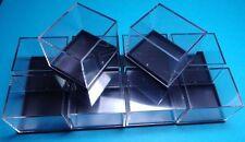 10 KLEINSTUFEN-DOSEN schwarz  41x35x32 mm für Mineralien - Fossilien Sammlung